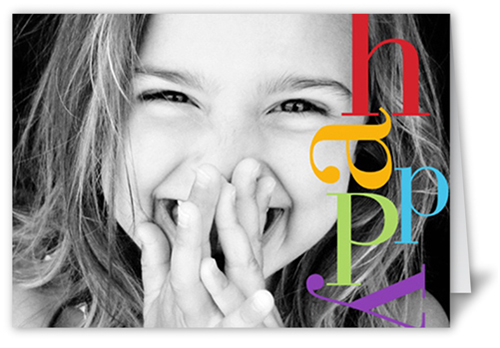 Happy Colors Birthday Card, Square Corners