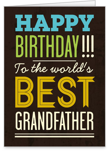 Best Grandpa Birthday Card