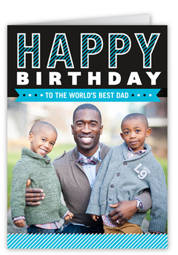 The Best Dad Birthday Card, Square Corners