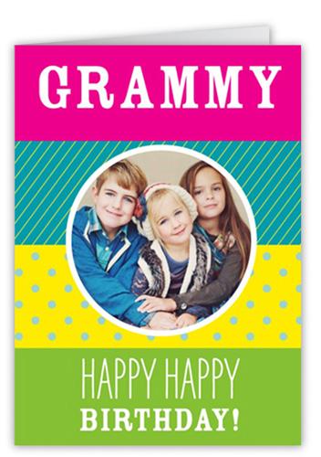 Pattern Fun Birthday Card, Square