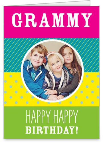 Pattern Fun Birthday Card, Square Corners
