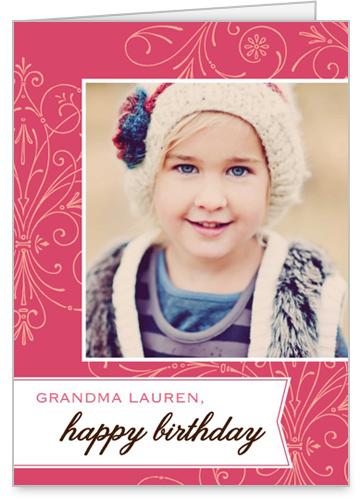 Sweet Filigree Birthday Card by treat.