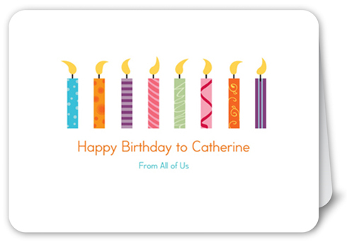Candle Collection Birthday Card, Square