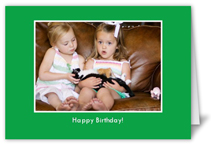 classic green party invitation