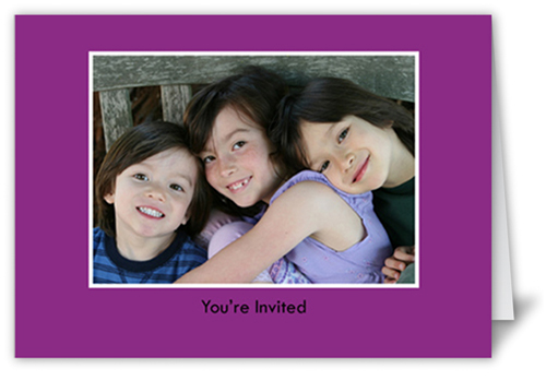 Classic Purple Party Invitation