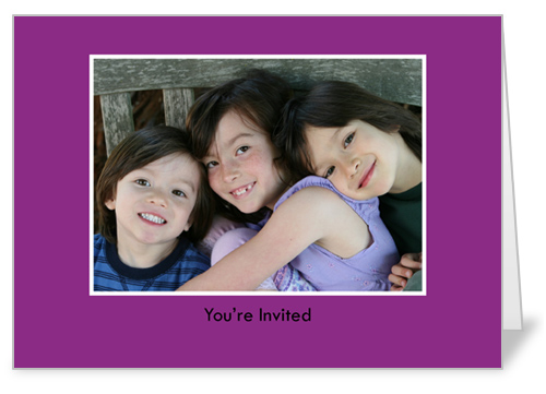 Classic Purple Party Invitation