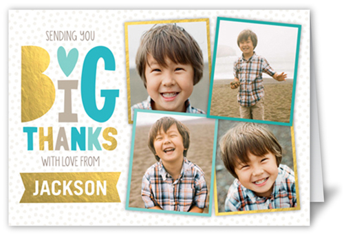 Delightful Collage Boy Thank You Card
