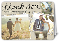 fun framed collage thank you card