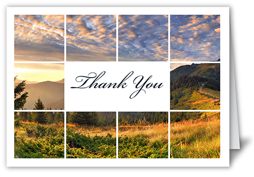 Grid Gallery Thank You Card