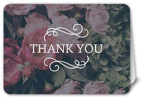 No Thank You For Wedding Gift: A Perfect Match 5x7 Wedding Thank You Card
