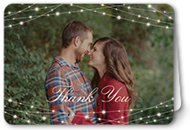 glowing bright thank you card