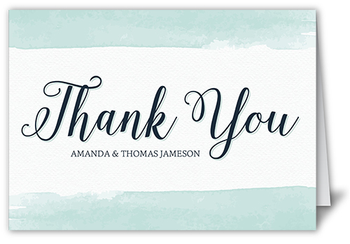 Classic Watercolor Border Thank You Card