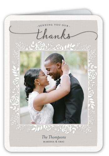 Mixed Foliage Frame Thank You Card