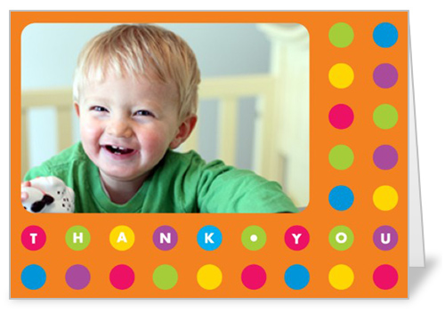 Bold Dots Thank You Card