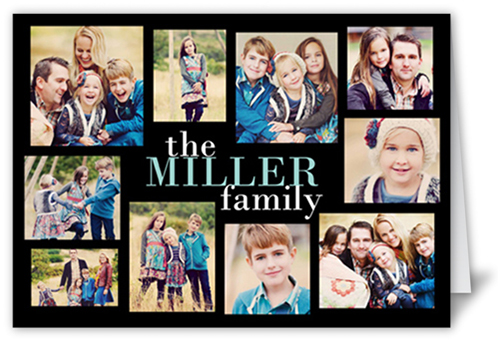 Modern Family Collage 5x7 Greeting Card Thank You Cards