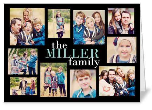 Modern Family Collage Thank You Card