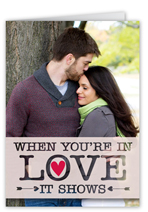 love shows wedding card
