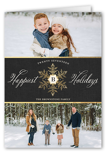 Classy Season Greetings Holiday Card, Rounded Corners