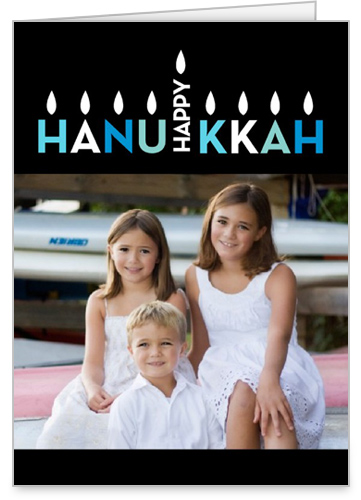 Eight Bright Nights Hanukkah Card by Stacy Claire Boyd