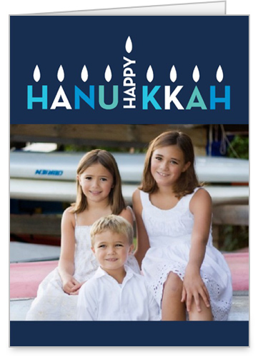 Eight Bright Nights Hanukkah Card