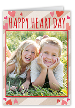 heart day valentines card
