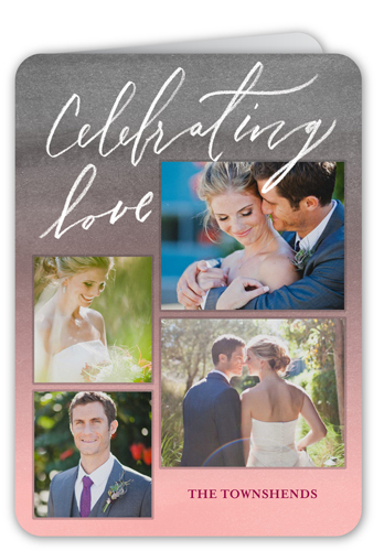 Celebrating Love Collage Valentine's Card, Rounded Corners