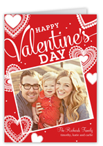 hearts in lace valentines card