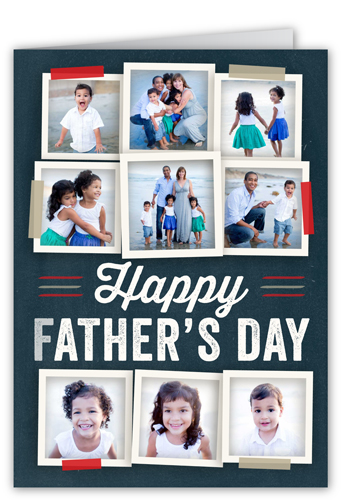 Tastefully Taped Father's Day Card, Square Corners