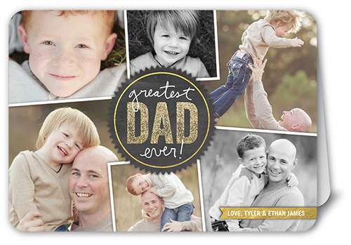 Greatest Dad Ever Father's Day Card, Rounded Corners
