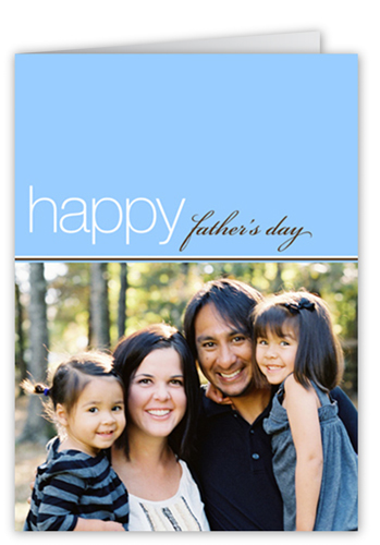 Classic Father's Day  Father's Day Card, Square Corners