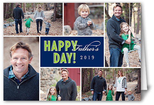 Happy Day Navy Father's Day Card