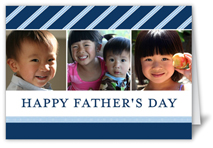 sophisticated stripes fathers day card