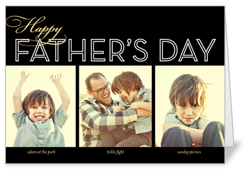 Dad Collage Noir Father's Day Card