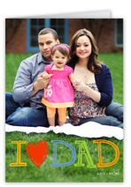 chalkboard heart dad fathers day card