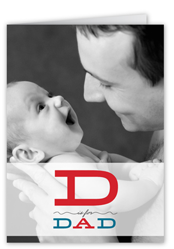 D Is For Father's Day Card
