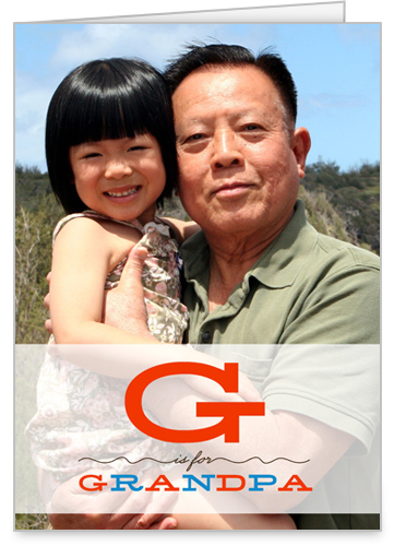 G For Grandpa Father's Day Card by Float Paperie
