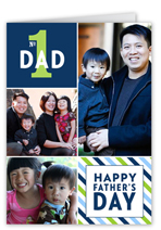 striped collage fathers day card