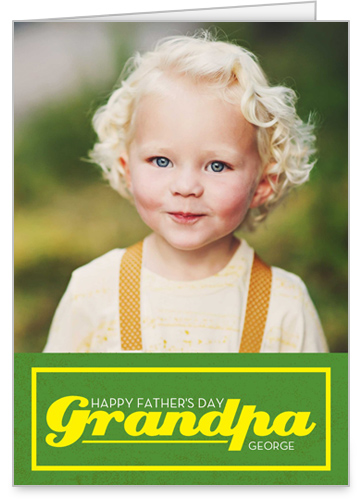 Grandpa Is Great Father's Day Card, Square Corners