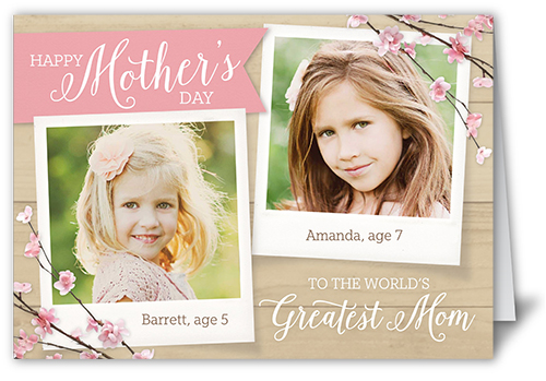 Beautiful Branches Mother's Day Card, Square Corners