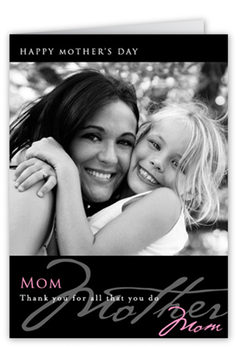 Mom Noir Rose Mother's Day Card
