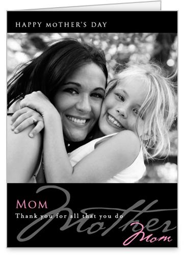 Mom Noir Rose Mother's Day Card