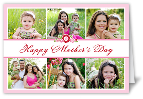 Bouquet Collage Mother's Day Card, Square Corners