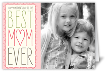 best mom ever mothers day card