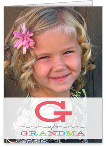 G Is Grandma Mother's Day Card