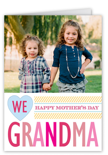 We Love Grandma Mother's Day Card, Square Corners