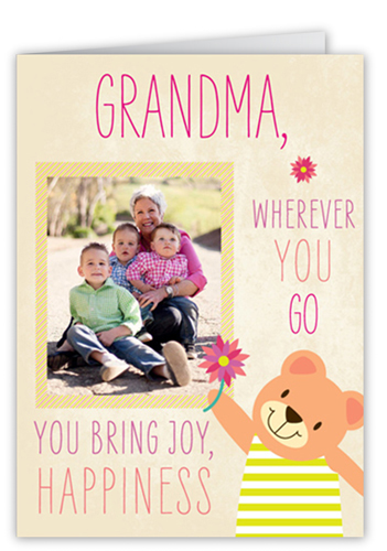 What Grandma Brings Mother's Day Card, Square Corners