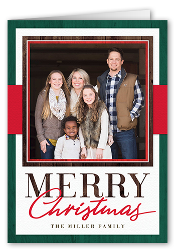 Color Border Merry Christmas Card