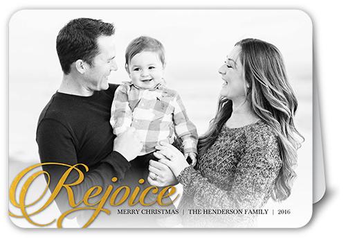 Gilded Rejoice Religious Christmas Card