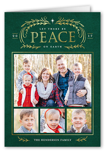 Let There Be Peace Religious Christmas Card, Square