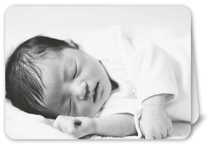 picture in landscape baby card